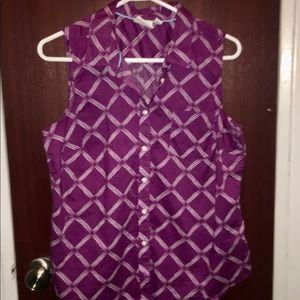 St. John's Bay button-down Sleeveless Shirt